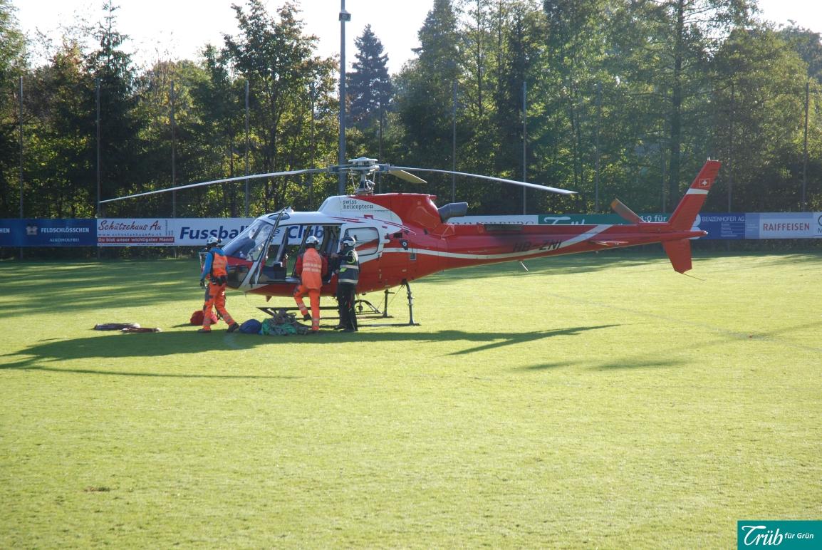 Helikopter-Einsatz in Horgen